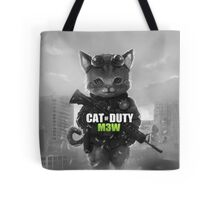 Cat of Duty Tote Bag