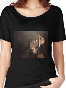 Classic Chocolate Labrador Women's Relaxed Fit T-Shirt