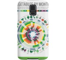 Cook Smarts' Vegetables by Month Chart Samsung Galaxy Case/Skin