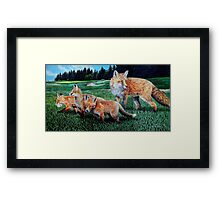 A Sly Foursome On The Fairway Framed Print