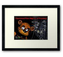 Five Nights at Freddy's Survivors T-Shirt Framed Print