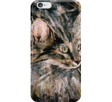 Norwegian Forest Cat Acrylic On Paper Painting Pet Portrait Home Decor iPhone Case/Skin
