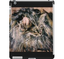 Norwegian Forest Cat Acrylic On Paper Painting Pet Portrait Home Decor iPad Case/Skin