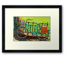 """Life is like riding a bicycle...""  Albert Einstein Framed Print"