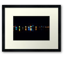 A Little Night Bokeh Framed Print