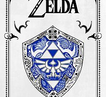 Zelda legend - Link Shield doodle by artetbe