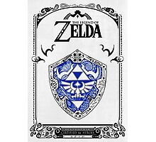 Zelda legend - Link Shield doodle Photographic Print