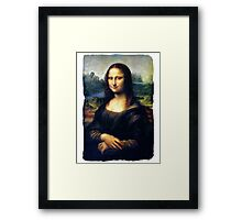 Mona Lisa Restored Framed Print