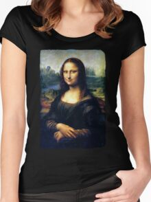 Mona Lisa Restored Women's Fitted Scoop T-Shirt