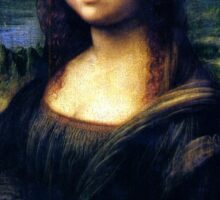 Mona Lisa Restored Sticker