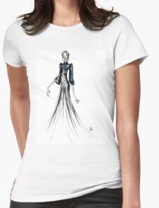 Black Elegant Dress Womens Fitted T-Shirt