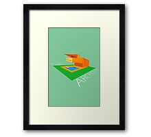 FLAT ARCHITECTURE Framed Print