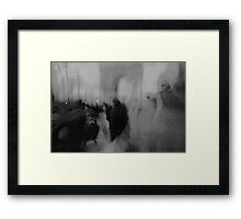 Couple kissing in street Arc de Triomphe Paris Champs Elysees Lomo LCA lomographic analog film photo Framed Print