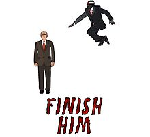 Robert Mugabe - FINISH HIM! Photographic Print