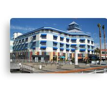 Blue hotel at Oakland  Canvas Print