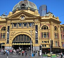Flinders Street Station by Gregory John O'Flaherty