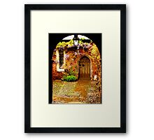 Mysterious Door Framed Print