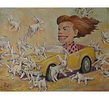 Bunny Bashing #2 Photographic Print