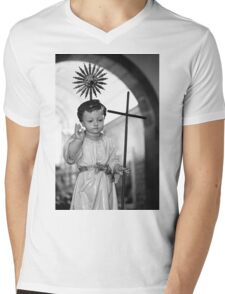Baby Jesus Mens V-Neck T-Shirt
