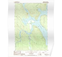 Maine USGS Historical Map Chesuncook 105025 1988 24000 Poster