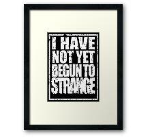 Strange in White Framed Print