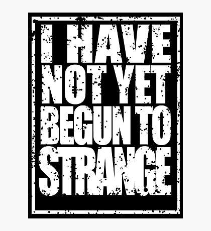 Strange in White Photographic Print