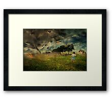 Will she make it ....oh my!!! Framed Print