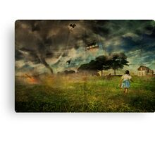 Will she make it ....oh my!!! Canvas Print
