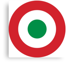 Roundel of the Italian Air Force, 1911-1946 Canvas Print