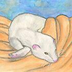 Ferret's Favorite Blanket by Roz Abellera Art Gallery