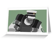 Team Fortress 2 - Green Demoman [Vector] Greeting Card