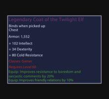 Legendary Coat of the Twilight Elf by Aethio