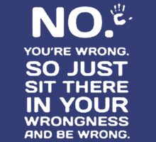 You're Wrong so just Seet There in Your wrongnes by amelia23