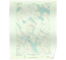 Maine USGS Historical Map Chesuncook 306523 1958 62500 Poster