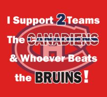 I support 2 teams - Montreal Canadiens One Piece - Long Sleeve