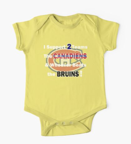 I support 2 teams - Montreal Canadiens One Piece - Short Sleeve
