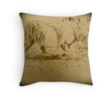Rhino Art by Bonnie Pelton Throw Pillow