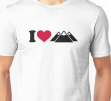 I love mountains Unisex T-Shirt