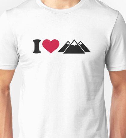 I love mountains Unisex T-Shirt