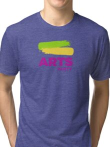 Official White - The Arts Party Tri-blend T-Shirt