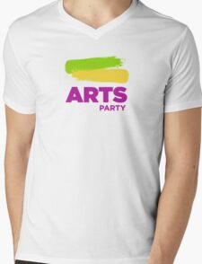 Official White - The Arts Party Mens V-Neck T-Shirt