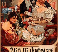 Biscuits Lefevre-Utile 2' by Alphonse Mucha (Reproduction). by Roz Abellera Art Gallery