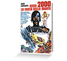 Death Race 2000 Greeting Card