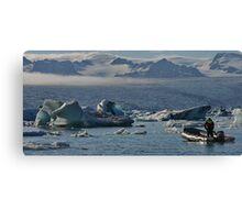Glacier and Ice Canvas Print
