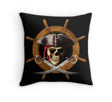 Pirate Wheel Throw Pillow
