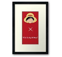 Minimalist Luffy Framed Print