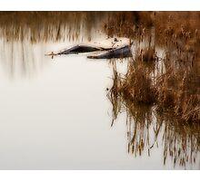 Sunken Boat Photographic Print