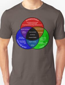 SuperWhoLock Venn Diagram Unisex T-Shirt