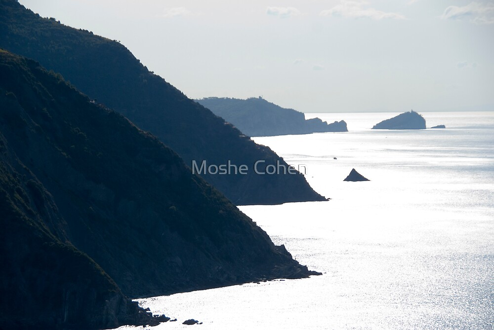Mountains and sea by Moshe Cohen