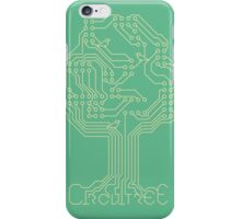 Circuit Tree - Gold on Green iPhone Case/Skin